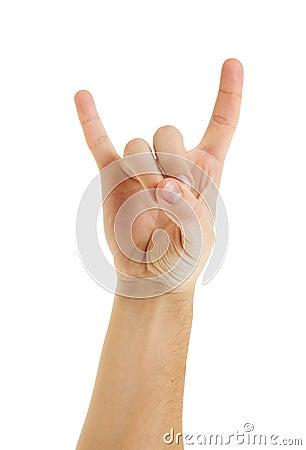 Hand gesturing.