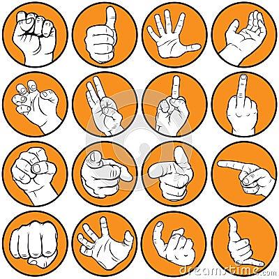 Hand gesturing