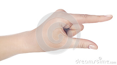 Hand gesturing like holding a card