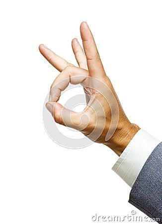 Hand gesturing Okay