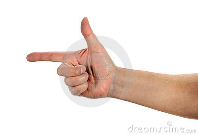 Hand Gesturing Weapon