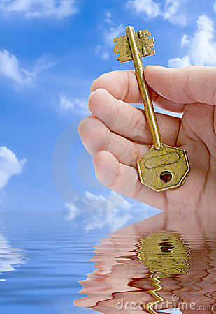 Free Hand Giving A Key Royalty Free Stock Photography - 1204057