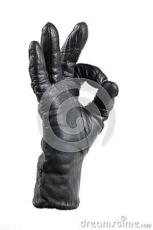 A hand in a glove