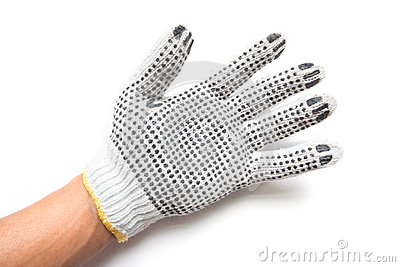 Hand gloves on white background