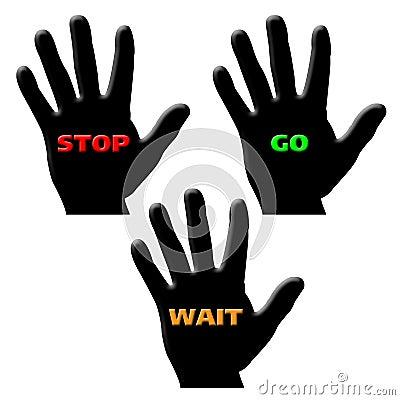 Hand go stop wait
