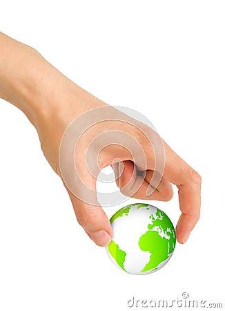 Hand grab world