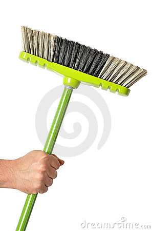 Hand with Green Broom