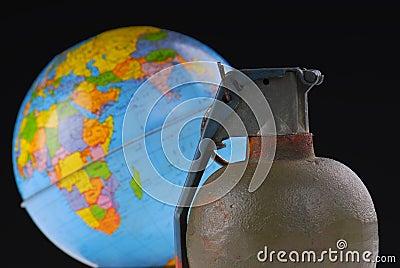 Hand Grenade and Globe