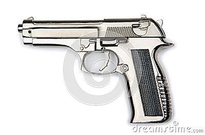 Hand gun isolated