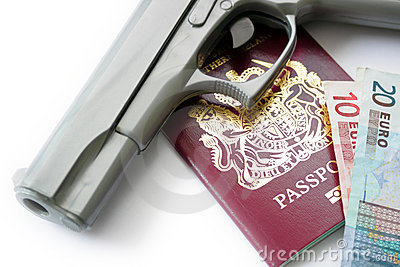 Hand Gun & Passport