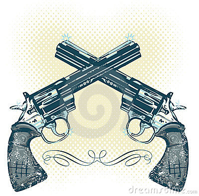 Hand guns vector illustration