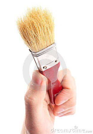 Hand hold brush. Painter