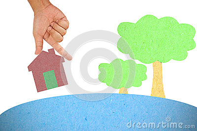 Hand hold house