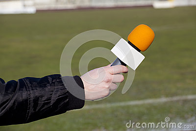 Hand hold microphone for interview