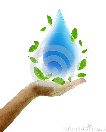 Free Hand Hold Water Drop Royalty Free Stock Images - 26964539