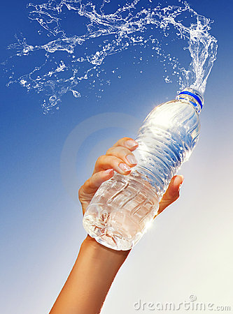 Free Hand Holding A Bottle Of Water Stock Photo - 9358360