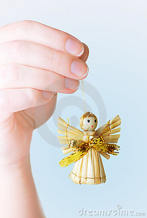 Hand Holding Angel Ornament