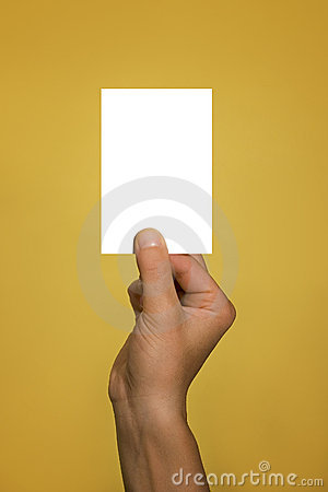 Free Hand Holding Blank Card Stock Photography - 1156882