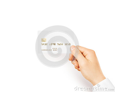 Blank White Credit Card