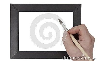 Hand holding  brush