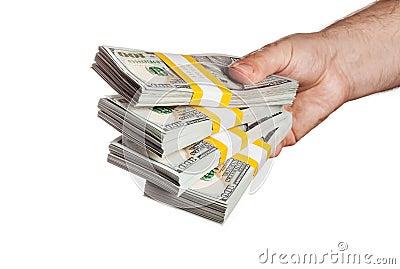 Image result for holding bundle of money dollar