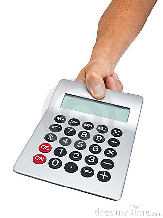 Hand Holding Calculator