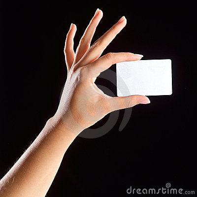 Free Hand Holding Card Royalty Free Stock Image - 4929836