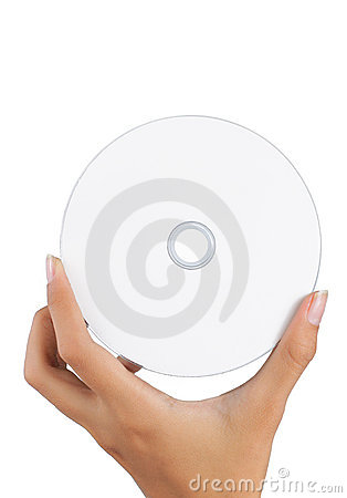 Hand holding a compact disc