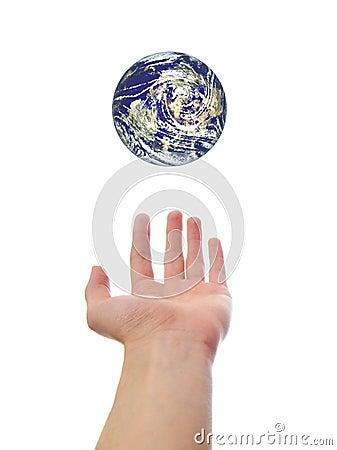 Free Hand Holding Earth World Stock Photos - 12708683