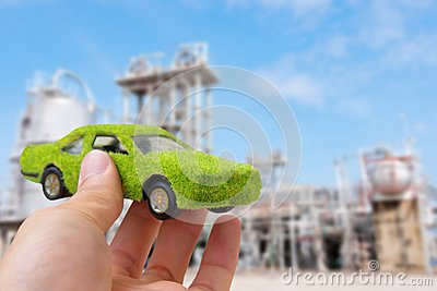 Hand Holding Eco car icon