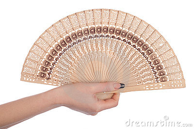 Woman With A Fan Royalty Free Stock Photo - Image: 14265155