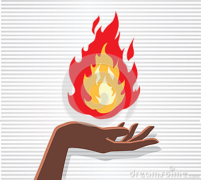 Fire Hand Royalty Free Stock Photo Image 30309985
