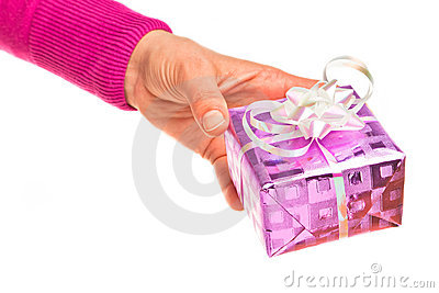 Hand holding gift