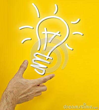 Hand holding idea