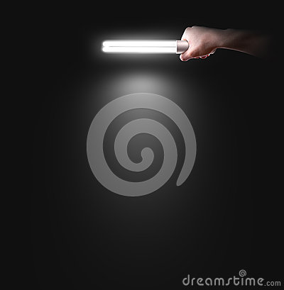 Free Hand Holding Lamp Near The Wall, . Idea, Logo, Poster Royalty Free Stock Images - 73684379