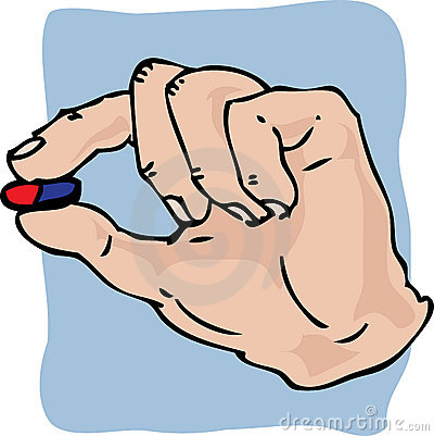 Hand holding medicine