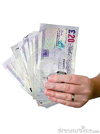 Free Hand Holding Money Stock Photos - 4286533