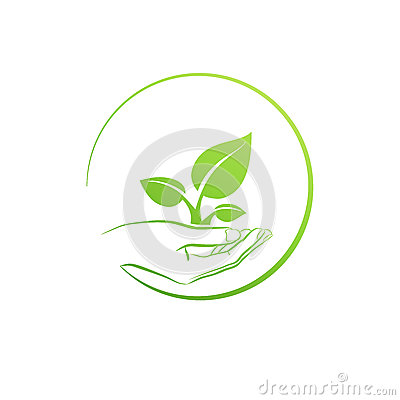 Free Hand Holding Plant, Logo Growth Concept Vector Stock Image - 49686351