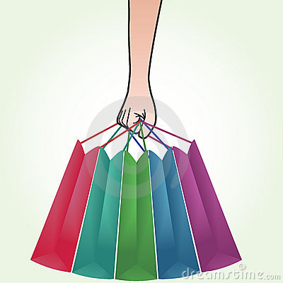 Hand Holding Shopping Bag