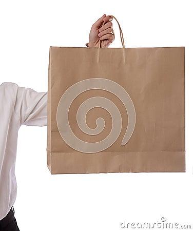 Free Hand Holding Shopping Bag Royalty Free Stock Image - 25020116