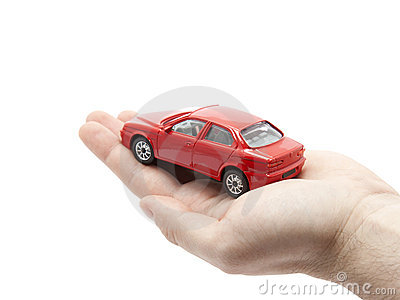 Hand Holding A Small Red Car Stock Photo  Image: 17279580