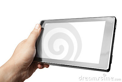 Hand holding Tablet PC