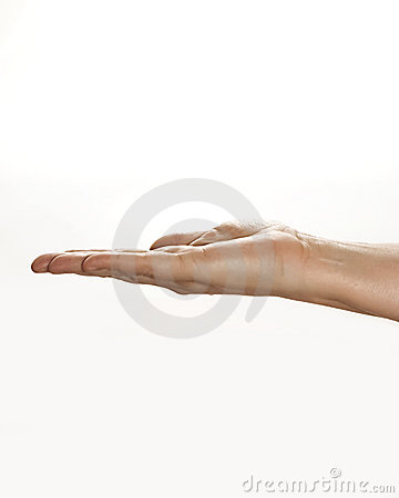 Hand Holding Unseen Object