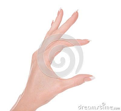 Hand holding a virtual card