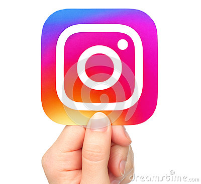 Free Hand Holds Instagram Icon Stock Images - 86320904