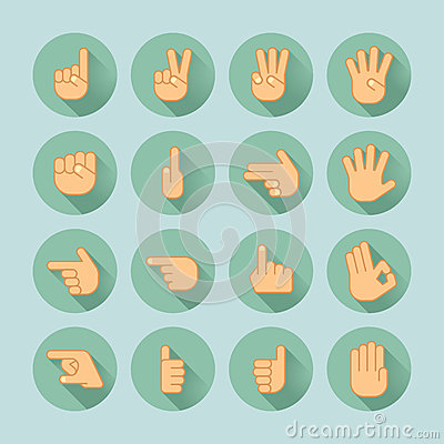Free Hand Icon Set Stock Photo - 67338120