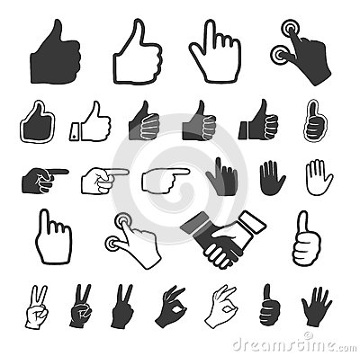 Free Hand Icon. Vector Set. Stock Photography - 33246432