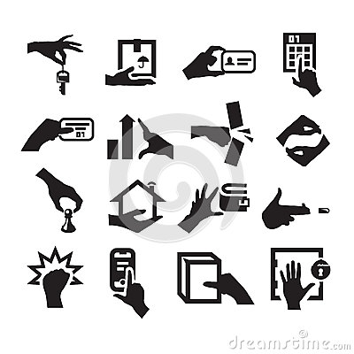 Free Hand Icons Stock Photos - 32313573