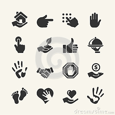 Free Hand Icons Vector Set Royalty Free Stock Images - 40684469