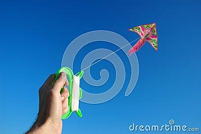 Hand keeps kite